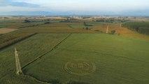 Avvistamento alieno: le immagini dal drone del cerchio apparso in Piemonte