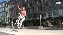 شاهد: حركات مذهلة على الدراجة الهوائية