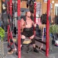 Bodybuilder Tries High Box Squats Using Chains and Potted Plants on a Transformer Bar