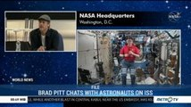 Brad Pitt Chats with Astronauts on ISS