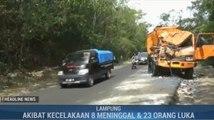 Kecelakaan Maut di Lampung Diduga Karena Pengemudi Ngebut