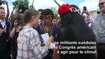 """""""Je veux que vous vous unissiez derrière la science"""": Thunberg au Congrès"""