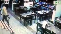 Oyunculara saldırıp, restorana zarar veren zanlıların görüntüleri ortaya çıktı