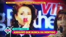 ¡Yolanda Andrade sostiene su versión de la boda con Vero Castro!