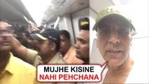 Akshay Kumar Takes Mumbai Metro Ride, Nobody Recognises Him | Laxmmi Bomb Shooting