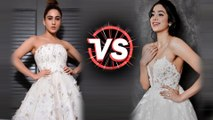 Janhvi Kapoor V/S Sara Ali Khan In White GOWN | Fashion Face-Off | Who Wore It Better?