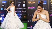 Sara Ali Khan looks gorgeous in white princess gown at IIFA 2019; Watch video | FilmiBeat
