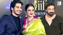 IIFA 2019: Rekha Poses With Ishaan Khatter And Bobby Deol