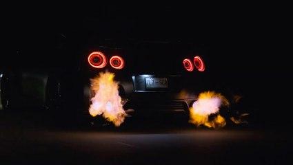VÍDEO: Sabes que este Nissan GT-R R35 es muy bestia cuando echa fuego por los escapes