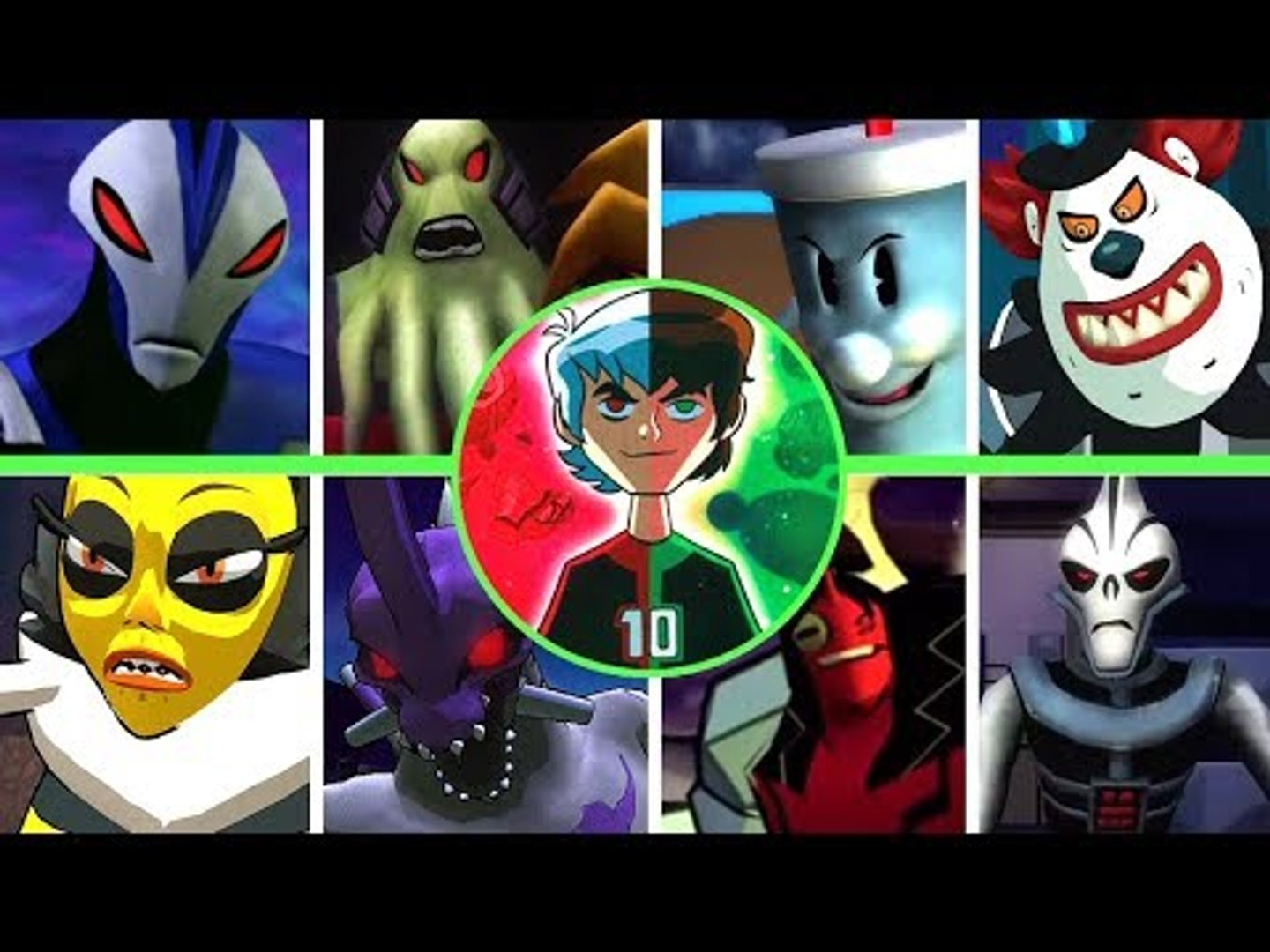 Ben 10 Boss Rush Compilation (All Bosses from All Games)