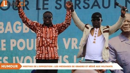 Meeting de l'opposition : Les messages de Gbagbo et Bédié aux militants