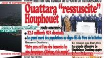 Le Titrologue du 19 Septembre 2019 : Travaux de voirie de Yamoussoukro, Ouattara «ressuscite» Houphouët