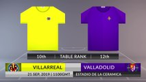 Match Preview: Villarreal vs Valladolid on 21/09/2019