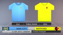 Match Preview: Man City vs Watford on 21/09/2019