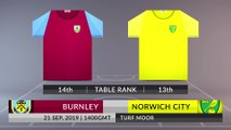 Match Preview: Burnley vs Norwich City on 21/09/2019