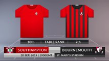 Match Preview: Southampton vs Bournemouth on 20/09/2019