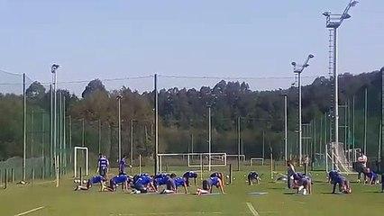 Entrenamineto del Deportivo de la Coruña