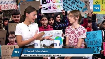 Genç aktivist Atlas Sarrafoğlu'ndan yetişkinlere: Geleceğimizi kurtarmak için ne yaptınız?