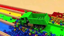 Learn Colors with Street Vehicles Police Car, Fire Truck on Slide Toys Cars Pretend Play for Kids