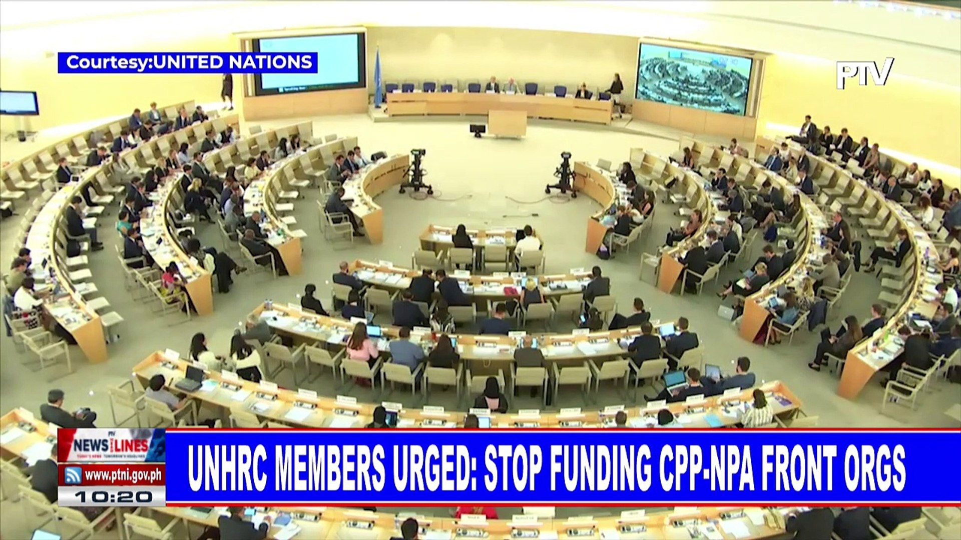 UNHRC members urged: Stop funding CPP-NPA front orgs