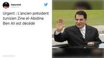 L'ancien président tunisien Zine El Abidine Ben Ali est mort