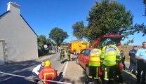 Crash d'un avion militaire F-16 belge dans le Morbihan en France