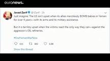 """ظريف يحذر السعودية وأمريكا من """"الحرب الشاملة"""""""