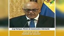 Detalla ministro venezolano acuerdo Gobierno-Oposición