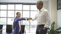 Obama Meets With Greta Thunberg