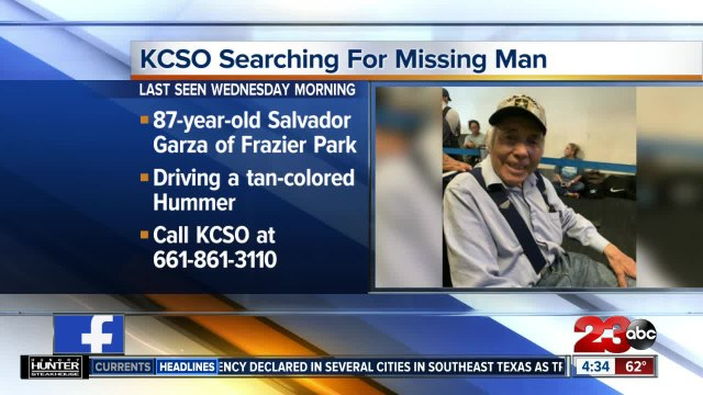 Kern County Sheriff's Office searching for missing elderly man suffering from dementia