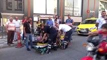Otomobil ile elektrikli motosiklet çarpıştı, engelli kadın yaralandı