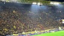 Tifo confettis du Borussia Dortmund