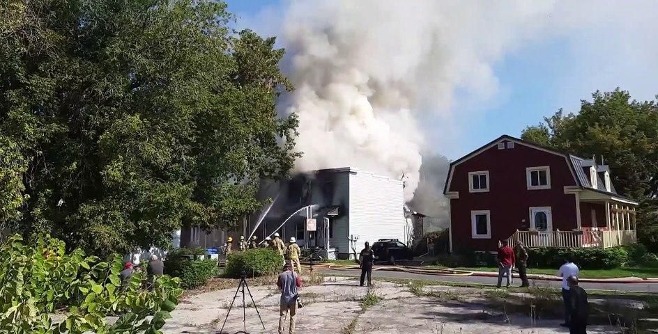 Maison incendiée à La Prairie