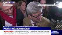 """Procès: """"Tout sort abîmé d'une pantalonnade pareille"""" a réagi Jean-Luc Mélenchon à la sortie de son audience"""
