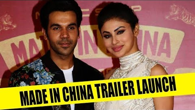 Rajkummar Rao and Mouni Roy at the trailer launch of Made In China