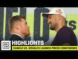 HIGHLIGHTS   Canelo vs. Kovalev Launch Press Conference