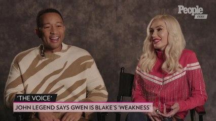 John Legend Thinks Gwen Stefani Is Blake Shelton's 'Weakness' on This Season of 'The Voice'