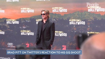 Brad Pitt Isn't Sure What to Make of Twitter's Thirsty Reactions to His GQ Shoot