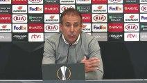 Slovan Bratislava  - Beşiktaş maçının ardından - Beşiktaş Teknik Direktörü Abdullah Avcı - BRATİSLAVA