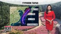 Big temperature gaps, Typhoon Tapah on way