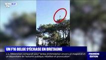 Un F16 belge s'écrase dans le Morbihan: les images juste avant son crash et les dégâts causés sur une maison