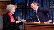 Margaret Atwood Reads Seth Meyers' Palm