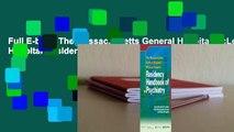 Full E-book The Massachusetts General Hospital/McLean Hospital Residency Handbook of Psychiatry