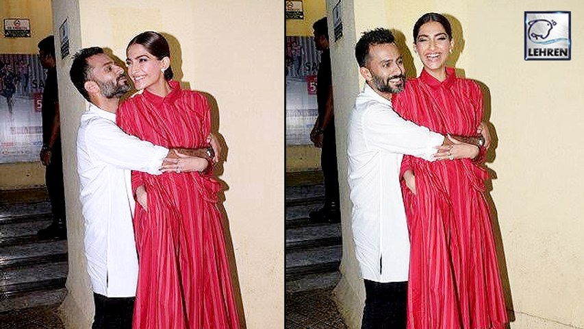 Anand Ahuja Showers Love On Wife Sonam Kapoor At The Zoya Factor Screening