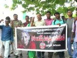 Telugu Journalists protest march to condemn the killing of Journalist Gauri Lankesh