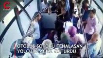 Halk otobüsünde panik anları! Bir anda yere yığıldı