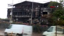 Tuzla'da yanan fabrika çevresinde yağmur 1
