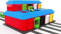 Colores para los niños para aprender con tren transportador de juguete preescolar