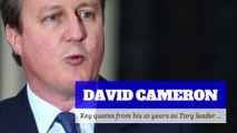 David Cameron - Key quotes from his 10 years as Tory leader