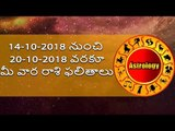 Rasi Phalalu    Weekly Rashi Phalalu    Rasi Phalalu from 14th Otober to 20th October